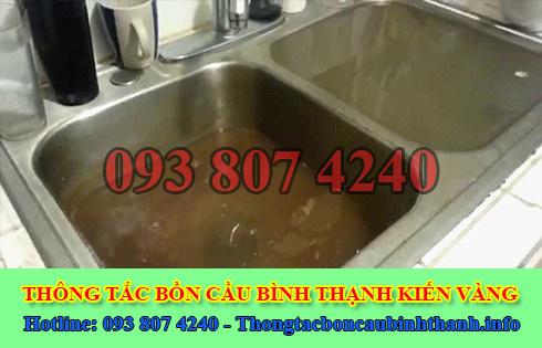 Thông bồn rửa chén bát trào ngược Quận Bình Thạnh 0938074240