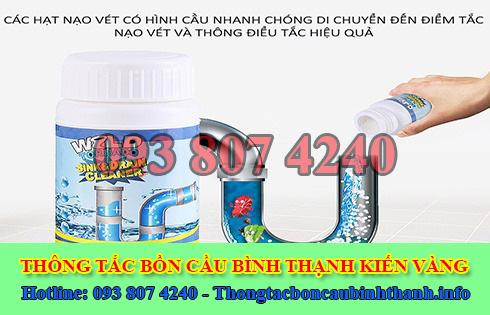 Bán bột thông cống nghẹt Quận Bình Thạnh giá rẻ 0938074240