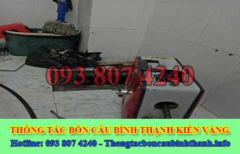 Sửa cống nghẹt Quận Bình Thạnh giá rẻ 0938074240 BH 5năm