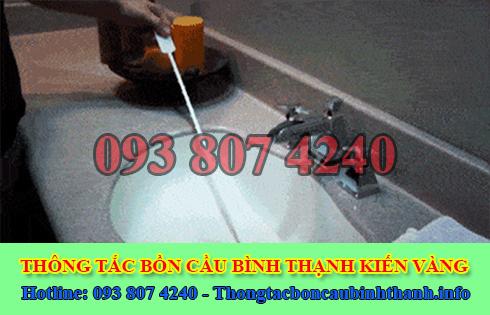 Thợ thông tắc bồn rửa mặt lavabo Quận Bình Thạnh 0938074240